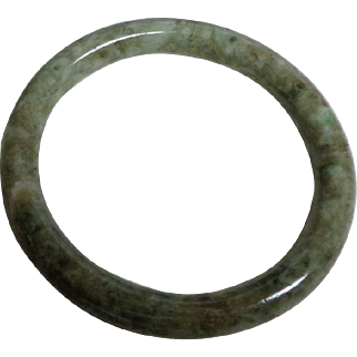 Irish Connemara Marble Bangle.  Green.