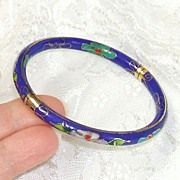 Cloisonné Bracelet - Bangle.  Beautiful.  Fine condition.