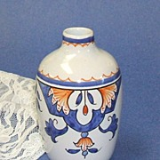 TIFFANY.  Vase.  Hand painted in France.  Country chic! Mint condition. - Red Tag Sale Item