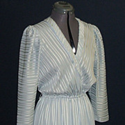Vintage Silver-grey Dress.  Custom made, Couture Designed.  Beautiful.  Mint condition.
