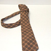 Pierre Balmain Designer Tie.  Mohair & Wool. 1970's  Narrow Long.  Elegant vintage.  Mint condition.