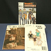 3 Craft Sewing Patterns.  Civil War Costumes,  Ballet Costume,  Handbags & Totes.  Uncut, unused.  Mint condition.
