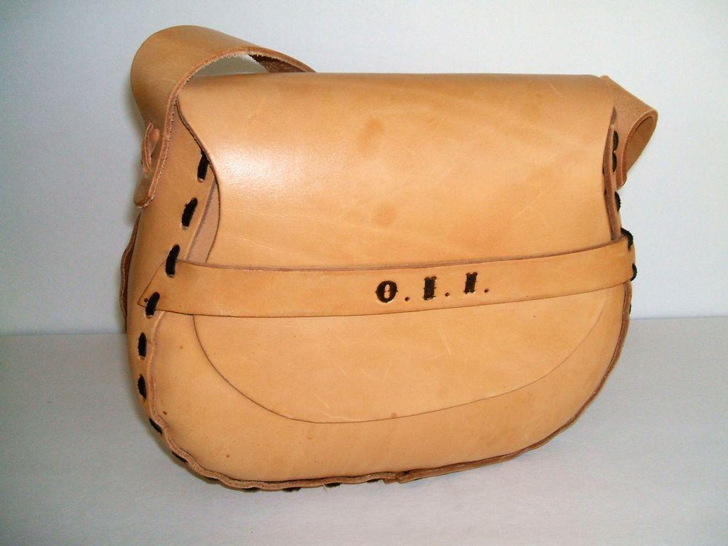 Split Cowhide.  Leather Laced. Large Purse.  Mint Condition.