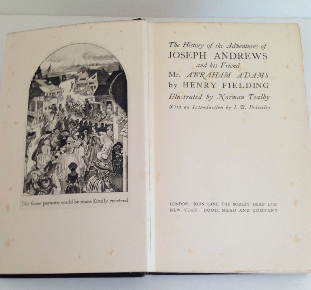 Joseph andrews by henry fielding 1929 london bodley head for Farcical humour in joseph andrews