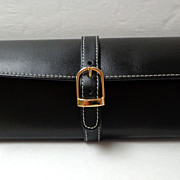 Traveling Jewel Case.  Black Leather.  As New Condition.
