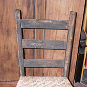 A Country Sheraton Youth Sized Thumb Back Rocker 19th Century