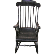 A Classic Boston Rocker with Black Paint C. 1840's