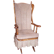 Newport Glider Upholstered Platform Rocking Chair