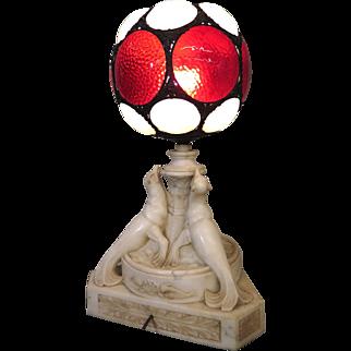 Art Deco Alabaster Sea Lion Lamp