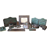 Eleven Piece Zodiac Desk Set by Tiffany Studios