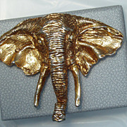 Vintage Erwin Pearl Brooch Elephant Pin GOP Republican Free Shipping