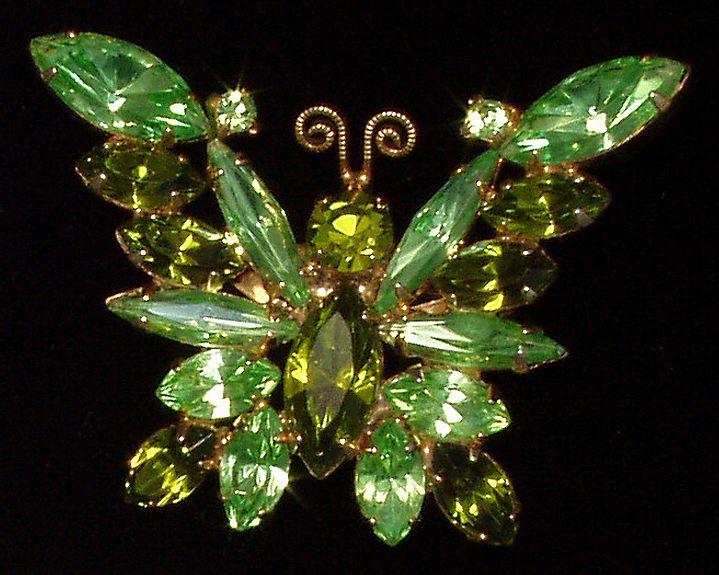 Rhinestone Butterfly Pin Brooch