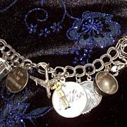 Charm Bracelet Circa 1960s Maternal Religious Motifs Sterling