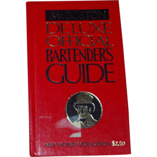 Mr. Boston Deluxe Official Bartender's Guide Mixology Cocktails Drinks Alcohol