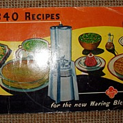 `947 Advertising Cookbook Pamphlet 340 Recipes Waring Blender Free Shipping