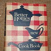 Better Homes Garden New Cookbook Yellow Tabs 1962 Second Printing