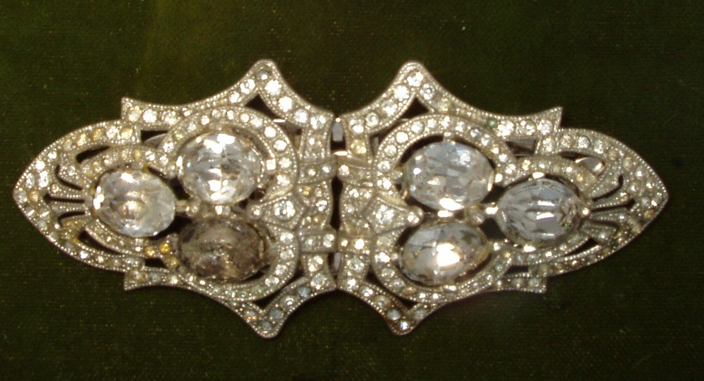 Gorgeous Coro Duette Signed Patented 1930's Brooch Nice