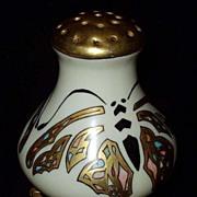 Vintage Art Deco Porcelain Butterfly Sugar Shaker Old Muffineer Hat Pin Holder