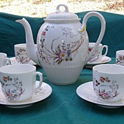 1800s Teapot Set Cups Saucers Dessert Plates Serving Platter