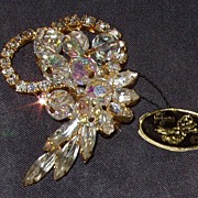 Juliana Iridescent Brooch Dangles Original Tag