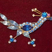 Vintage Montana Blue confirmed Juliana Rhinestone Roadrunner