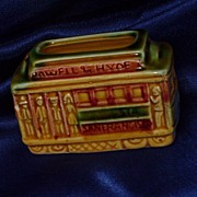 San Francisco Trolley Hyde Powell Souvenir Match Holder SNCO Japan