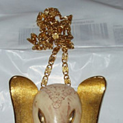 Vintage Monet Elephant Pendant Necklace Free Shipping