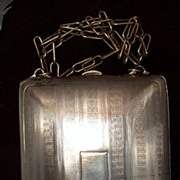 Silver Plate Art Deco Purse Ca 1930s Mirror Coin Slots Money Clip
