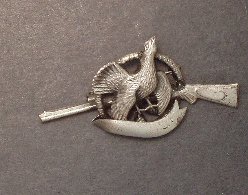 Vintage Turkey/Rifle Pin/Brooch-Pre WWII-Germany Free Shipping