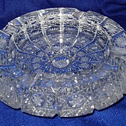 Heavy Vintage Crystal ashtray Beautiful Snowflake Design