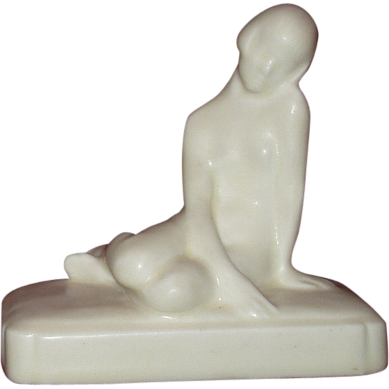 Rookwood Scarce Nude Paperweight Ca 1928 Statue