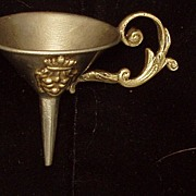 Victorian Funnel Silver Color Grape Crest Ornate Design Free Shipping