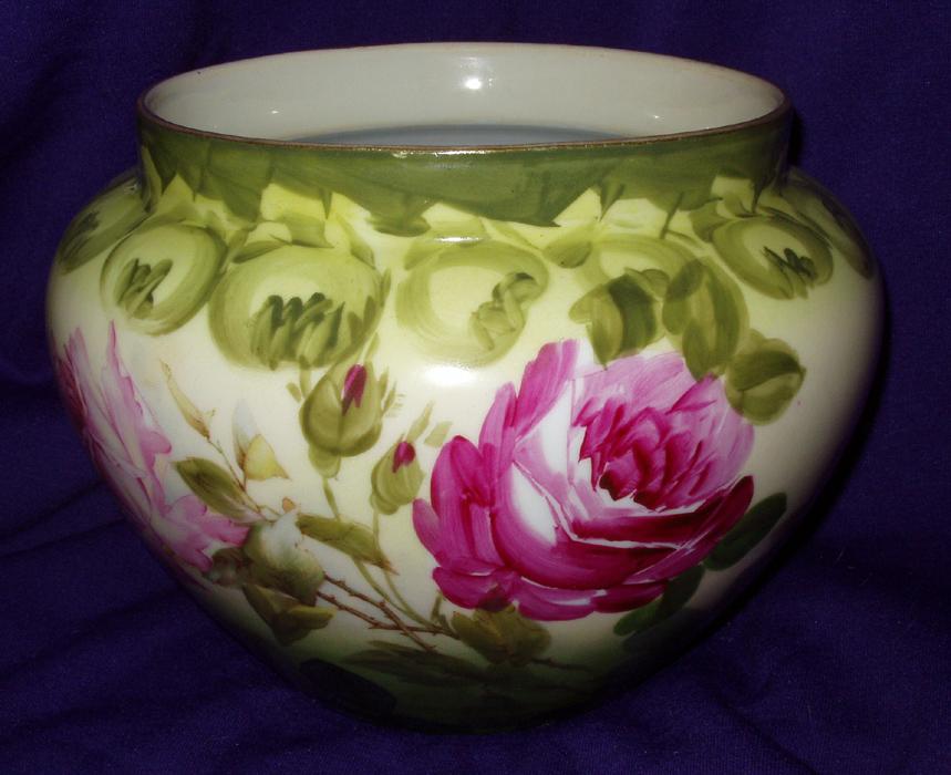 Vienna Austria Porcelain  Round Vase Jardiniere