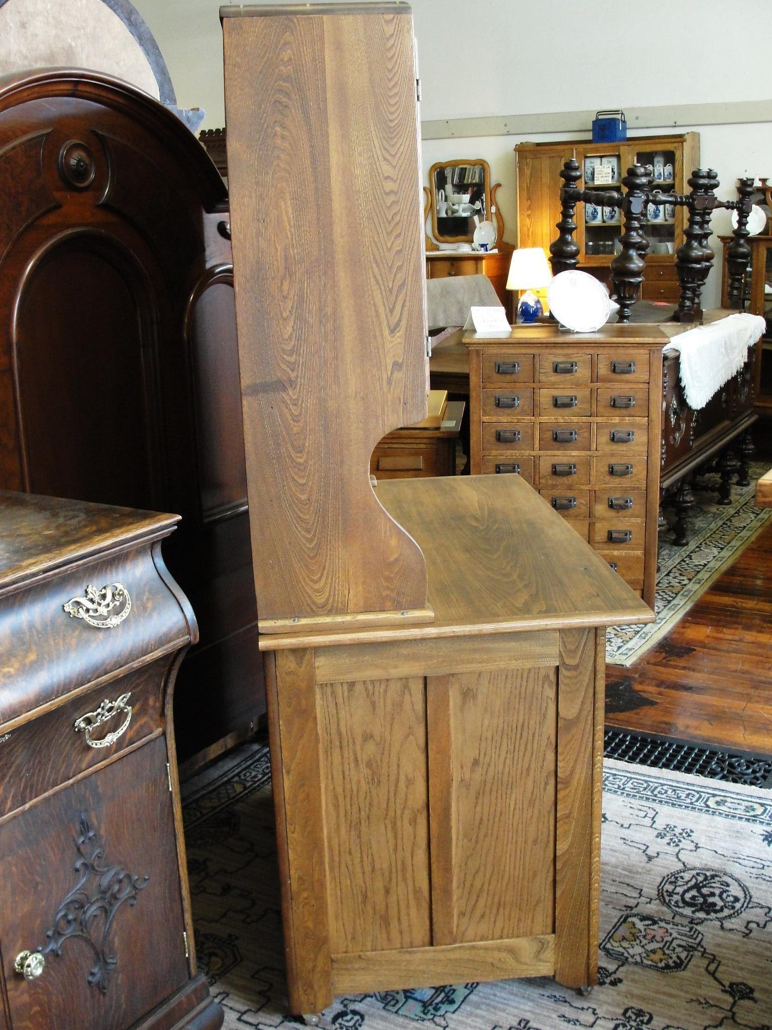 Antique Boone Oak 2 Piece Kitchen Cabinet from breadandbutter on ...