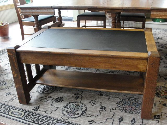 Mission Oak Table With Drawer Nice For Coffee Table From
