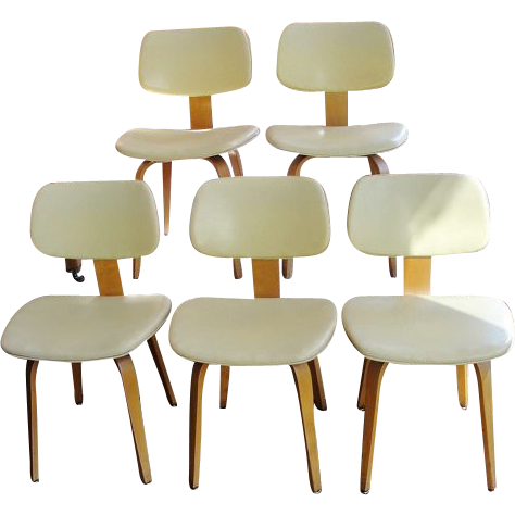 Five Mid - Century Thonet Bentwood Side Chairs