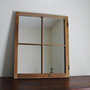 Old Vintage Barn Window Frame Mirror