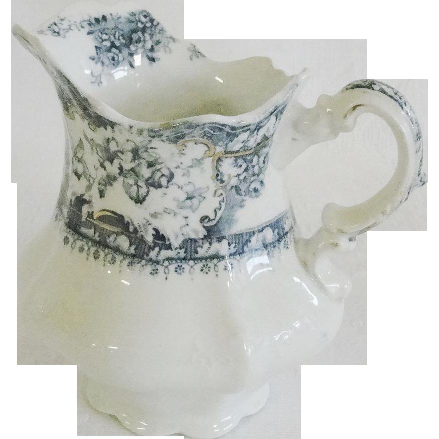 Wedgewood Porcelain China Pitcher Blue & White Transfer