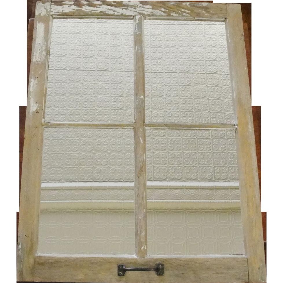 Architectural Salvage Barn Window Mirror