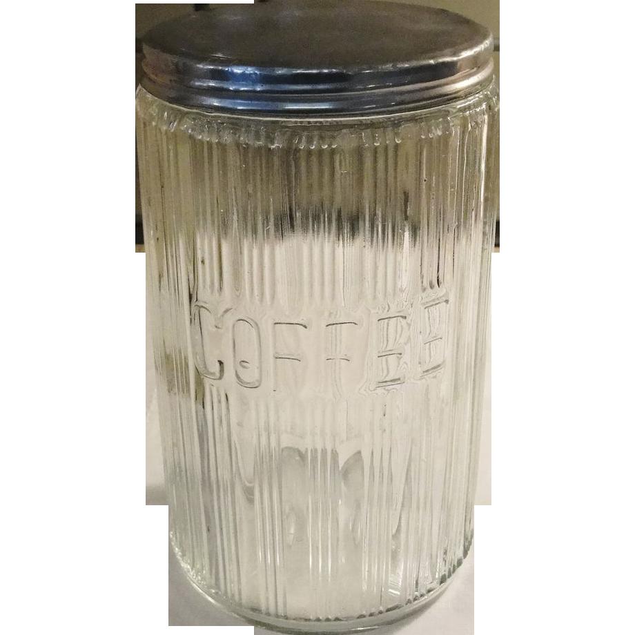 Vintage Hoosier Glass Coffee Jar with Lid SOLD on Ruby Lane