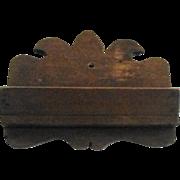 Small Primitive Walnut Wood Wall Box