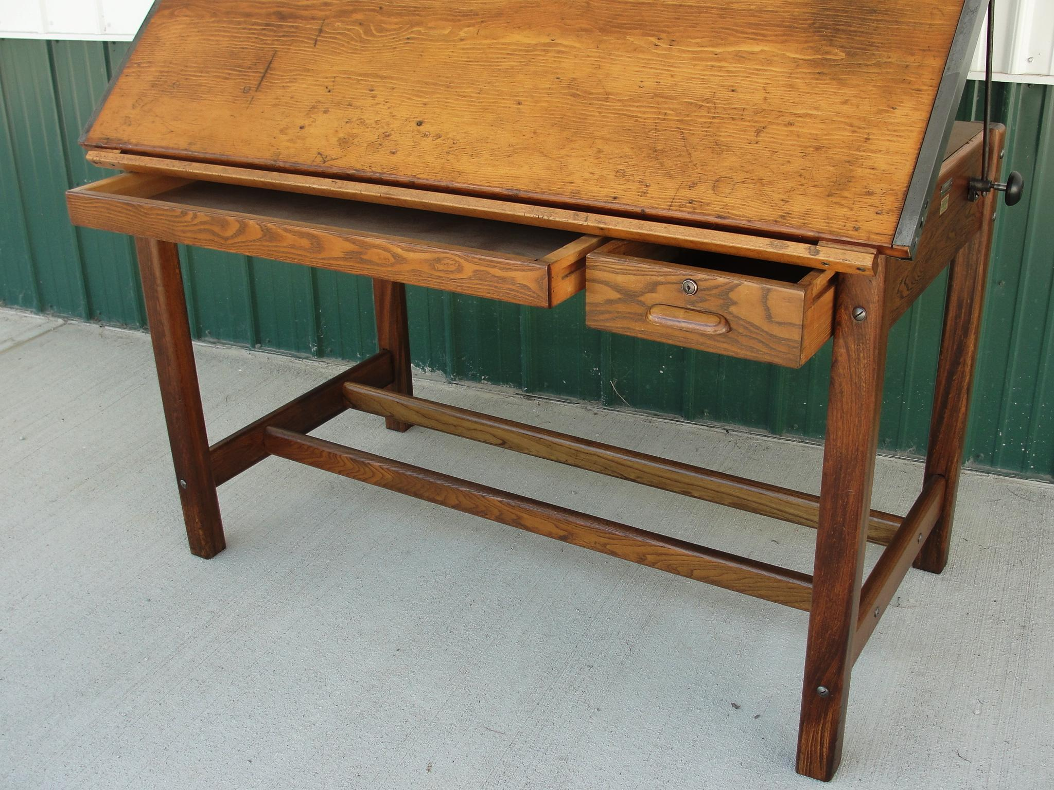 Antique drafting table with drawers - Roll Over Large Image To Magnify Click Large Image To Zoom