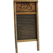 Vintage Laundry Washboard Columbus Ohio Dubl Handi