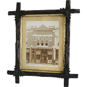 Vintage Photograph Storefront Saddlery Shop Late 1800's