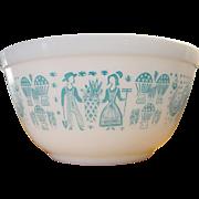 Vintage Pyrex Turquoise Amish Butterprint Mixing Bowl 1 ½ Quart