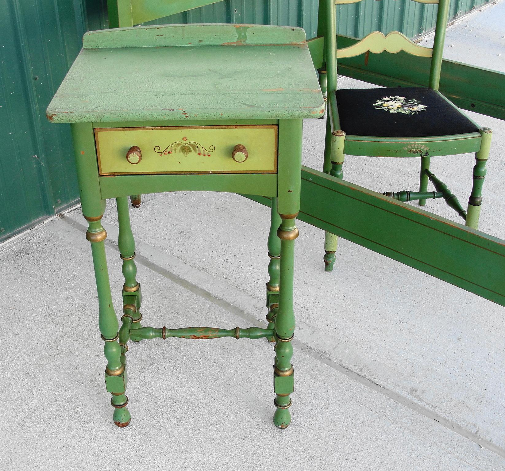 Stickley Quaint American Furniture Hand Painted Bedroom Set From Breadandbutter On Ruby Lane