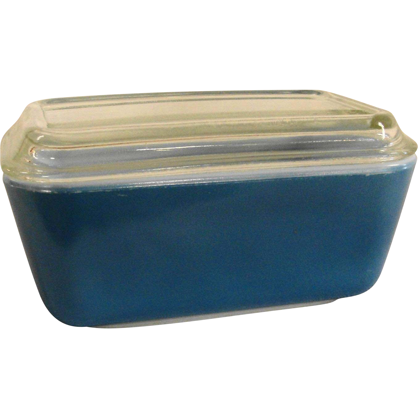 vintage pyrex blue 502 b refrigerator dish with glass lid from breadandbutter on ruby lane. Black Bedroom Furniture Sets. Home Design Ideas