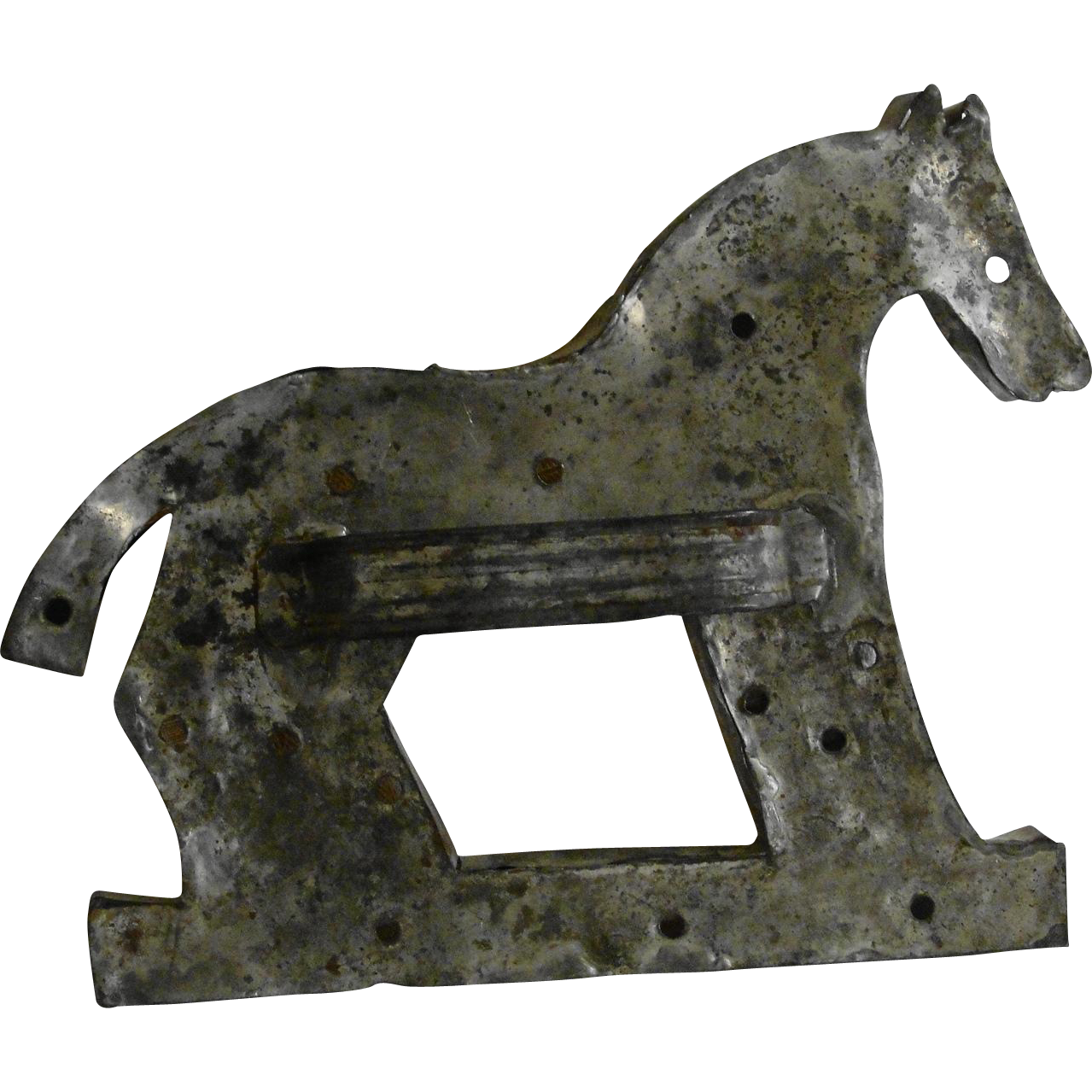 Large American Folk Art Tin Horse Cookie Cutter