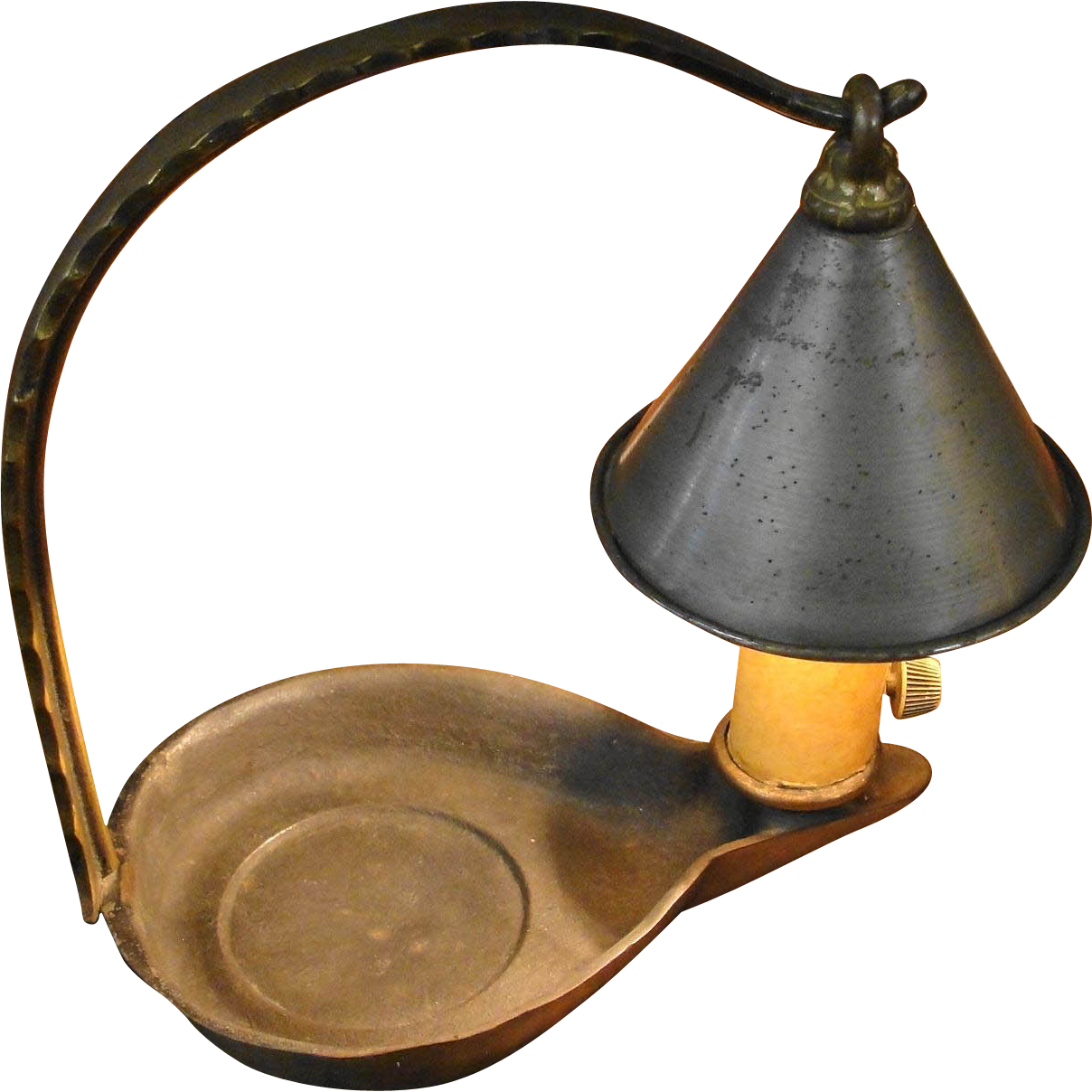 Metal Lamp Cone Shade: Small Vintage Storybook Lamp Light With Cone Shaped Shade