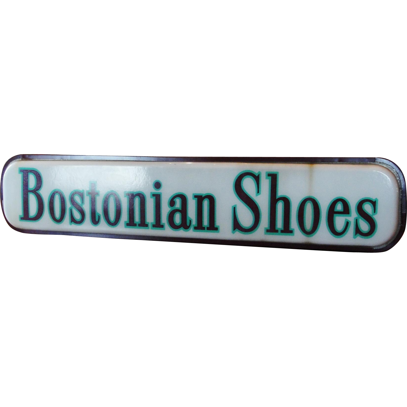 Vintage Double Sided Lighted Advertising Sign Bostonian Shoes